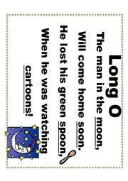 English Worksheet: Ten Long and Short Vowel Sound Silly Short Poems