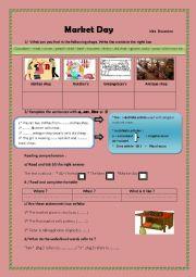 English Worksheet: Market Day