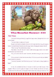 English Worksheet: The Scarlet Flower - III