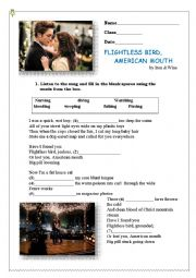 English Worksheet: Flightless Bird,American Mouth