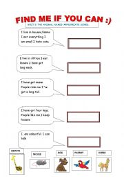English worksheets: the animals worksheets, page 372