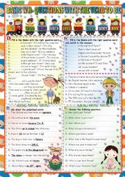 English Worksheet: BASIC QUESTIONS WITH THE VERB TO BE