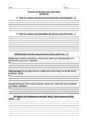 English Worksheet: segregation test