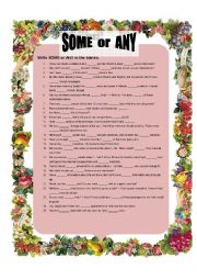 English worksheet: SOME or ANY (Page 2)