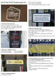 SIGNS AND NOTICES #10 (10 photos on 2 pages)