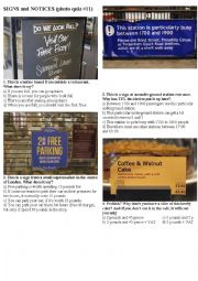 SIGNS AND NOTICES #11 (10 photos on 2 pages)