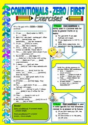 English worksheet: Conditionals- Zero and First