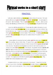 Phrasal verbs in a short story