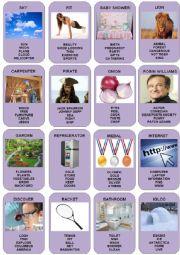 English Worksheet: Taboo Cards - 3