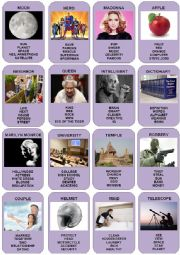 English Worksheet: Taboo Cards - 4