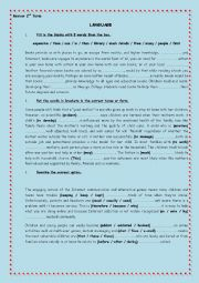 English Worksheet: review activities 2 (2nd form Tunisian)