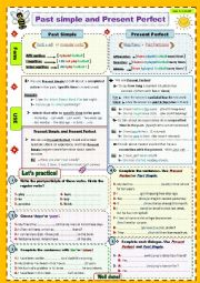 English Worksheet: Present perfect and Past simple.