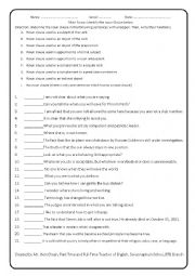 English Worksheet: Identify noun clauses