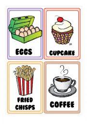 English Worksheet: Food FLASHCARDS 2-5
