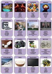 English Worksheet: Taboo Cards - 5