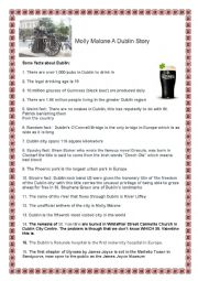 English Worksheet: Molly Malone A Dublin Story -Video Session and Oral exposition