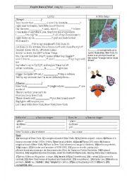 English Worksheet: Empire State of Mind, Alicya Keys