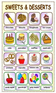 English Worksheet: Sweets and Desserts:pictionary_6