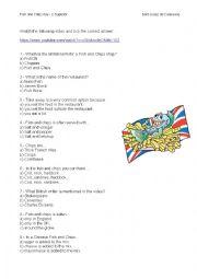 English Worksheet: fish and chips
