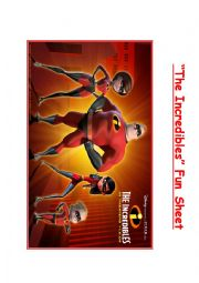 The Incredibles - Fun Question Pack