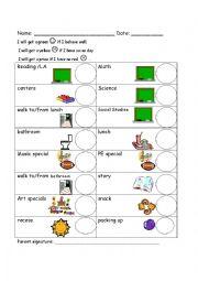 English Worksheet: Kinder Behavior Form