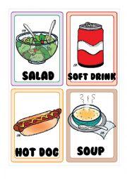 English Worksheet: Food FLASHCARDS 4-5