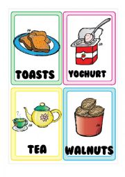 English Worksheet: Food FLASHCARDS 5-5