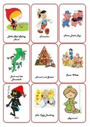 English Worksheet: Storytelling - Fairy Tales Flashcards