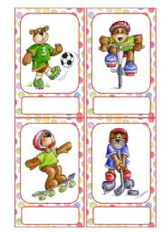 Busy Bears  sport Flashcards
