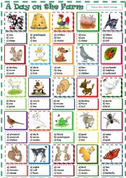 English Worksheet: A Day on ther Farm