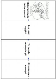English Worksheet: Mini Book For ´´Mother´s Day
