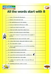 All the Words Start with B