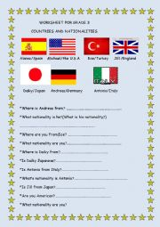 COUNTRIES/NATIONALITIES
