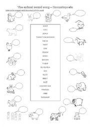 onomatopoeias pictionary esl worksheet by cristinasuma. Black Bedroom Furniture Sets. Home Design Ideas