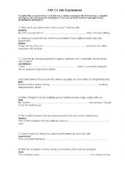 English Worksheet: CPE Set expressions