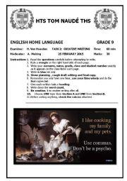 Grade 9 Creative Writing Test