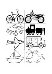 English Worksheet: Means of transport flashcards