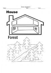 english worksheets living things habitat worksheet. Black Bedroom Furniture Sets. Home Design Ideas