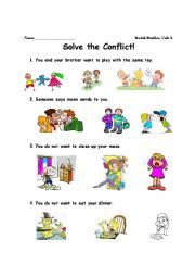 Worksheet Conflict Resolution Worksheets For Kids conflict resolution worksheets for kindergarten intrepidpath english teaching describing people at school page 131
