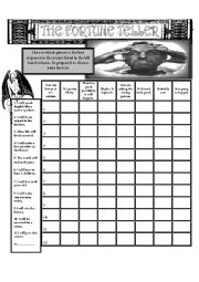 English Worksheet: Future Predictions - The Fortune Teller Wksht#1