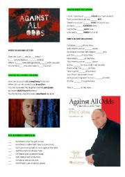 English Worksheet: Phil Collins ´Against all odds´