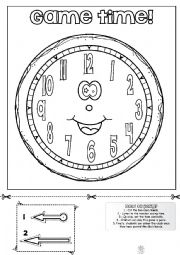 English Worksheet: Telling the time! GAME