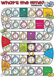 English Worksheet: What�s the time BOARDGAME