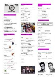 English Worksheet: MARK RONSON  ft. Bruno Mars �Uptown Funk�
