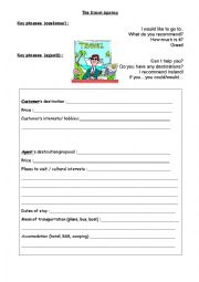 English Worksheet: The travel agency