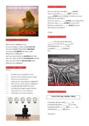 English Worksheet: Nickelback �What are you waiting for�