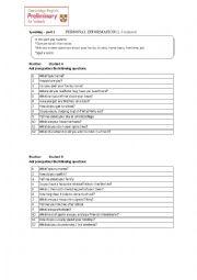 English Worksheet: Pet speaking exam preparation
