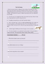 English Worksheet: Exam about the OLD DONKEY (5th form)