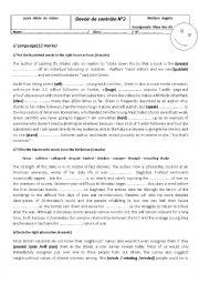 English Worksheet: 1st Form Mid term test2