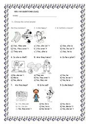 English Worksheet: YES NO QUESTIONS QUIZ